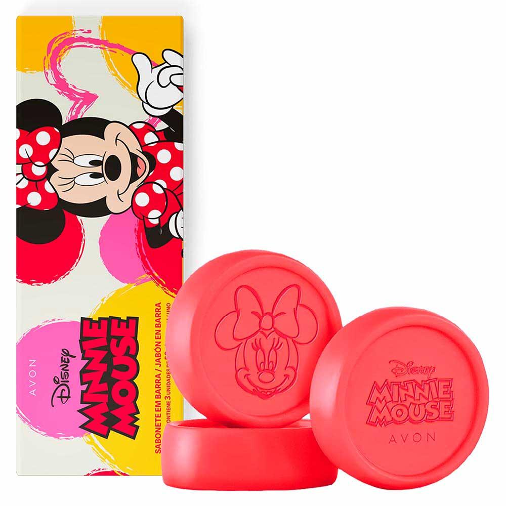 Sabonete em Barra Minnie Mouse - 3 unidades - 50 g