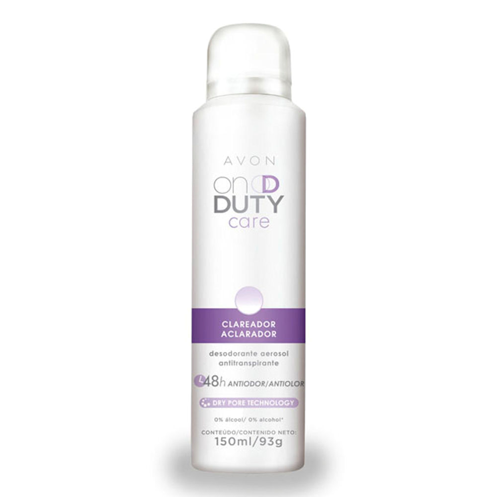 Desodorante Aerossol On Duty Clareador - 150 ml
