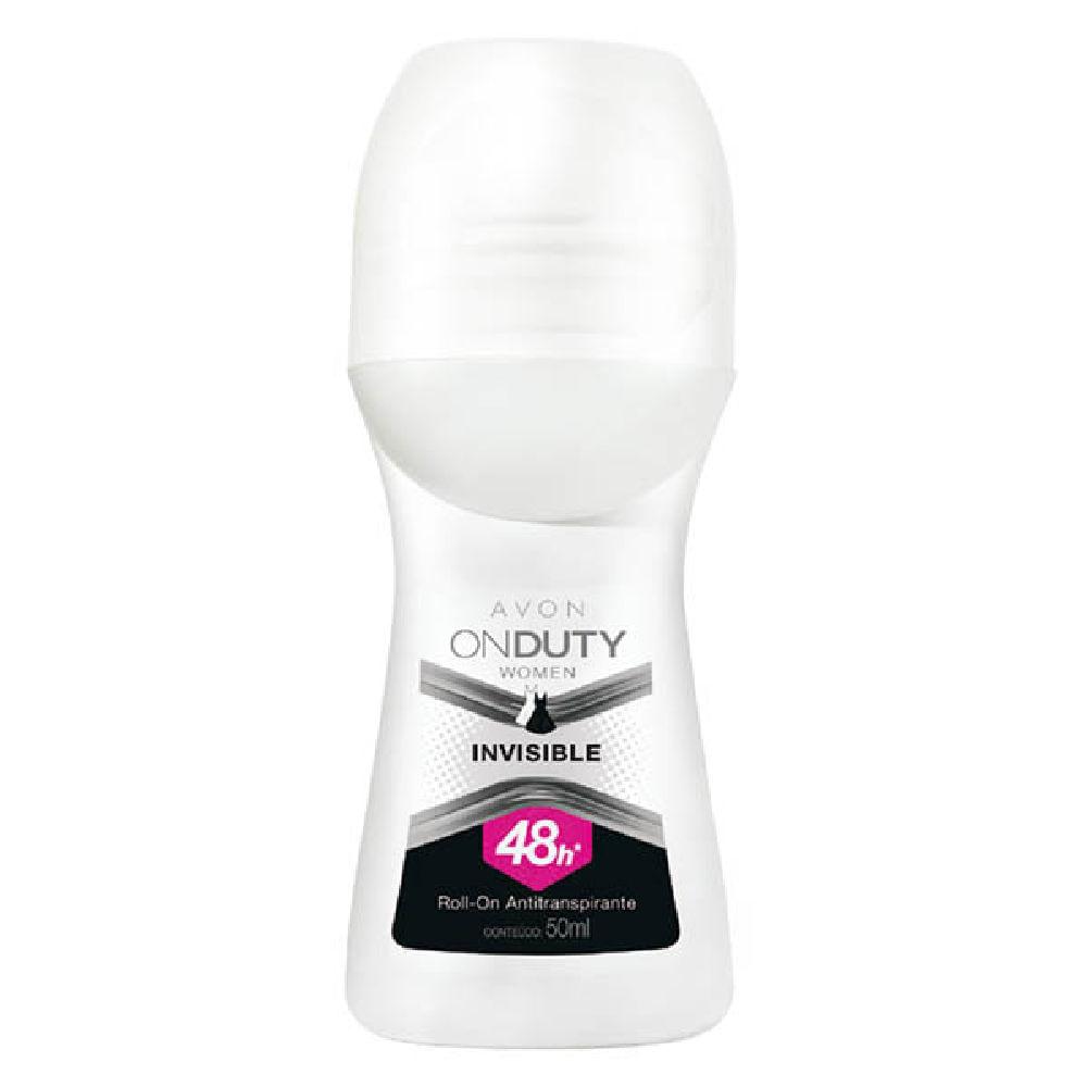 Desodorante Roll-On Antitranspirante On Duty Women Invisible - 50 ml