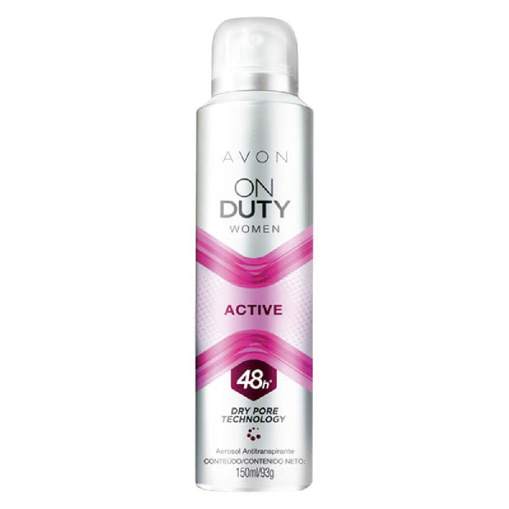 Desodorante Aerossol Antitranspirante On Duty Women Active - 150 ml