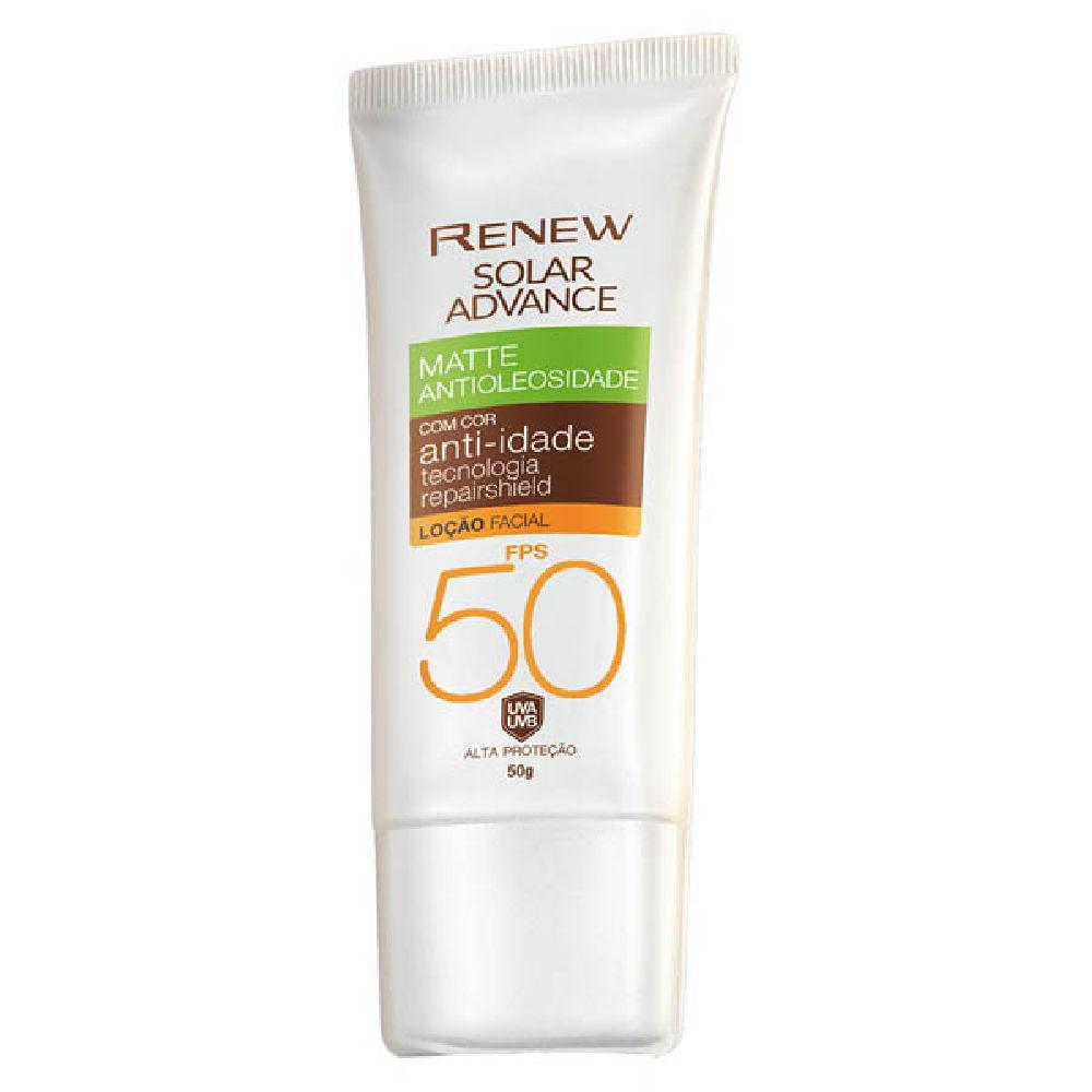 Protetor Solar Facial Renew Advance Matte com Cor Anti-Idade FPS50 50g - Clara