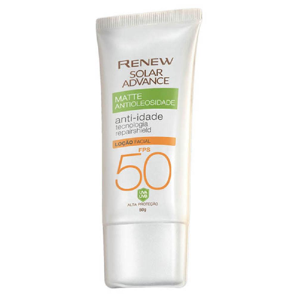 Protetor Solar Facial Renew Advance Matte Anti-Idade FPS50 - 50g