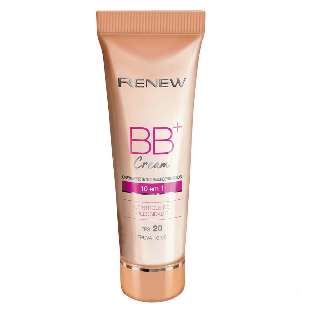 Creme Protetor Renew BB+ Cream Multibenefícios FPS 20 50 ml - Média