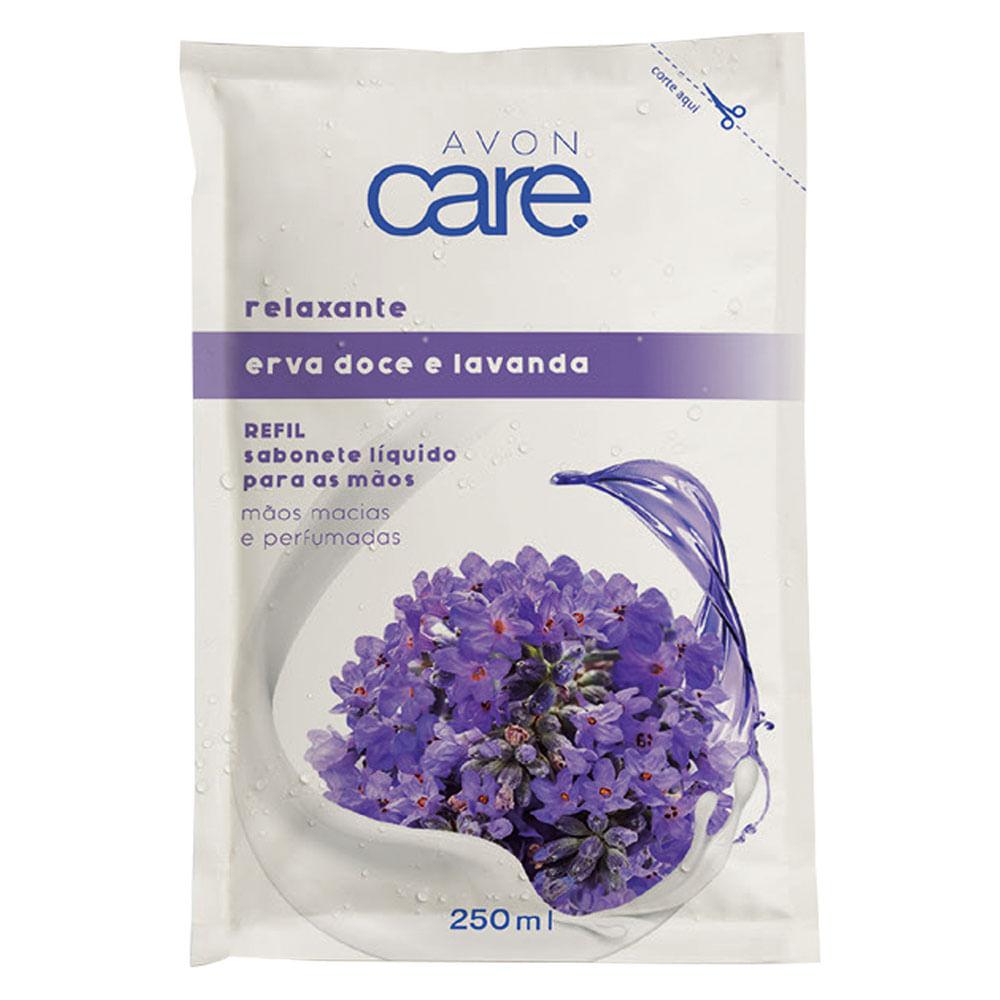 Refil Sabonete Líquido para as Mãos Erva Doce e Lavanda Avon Care - 250ml