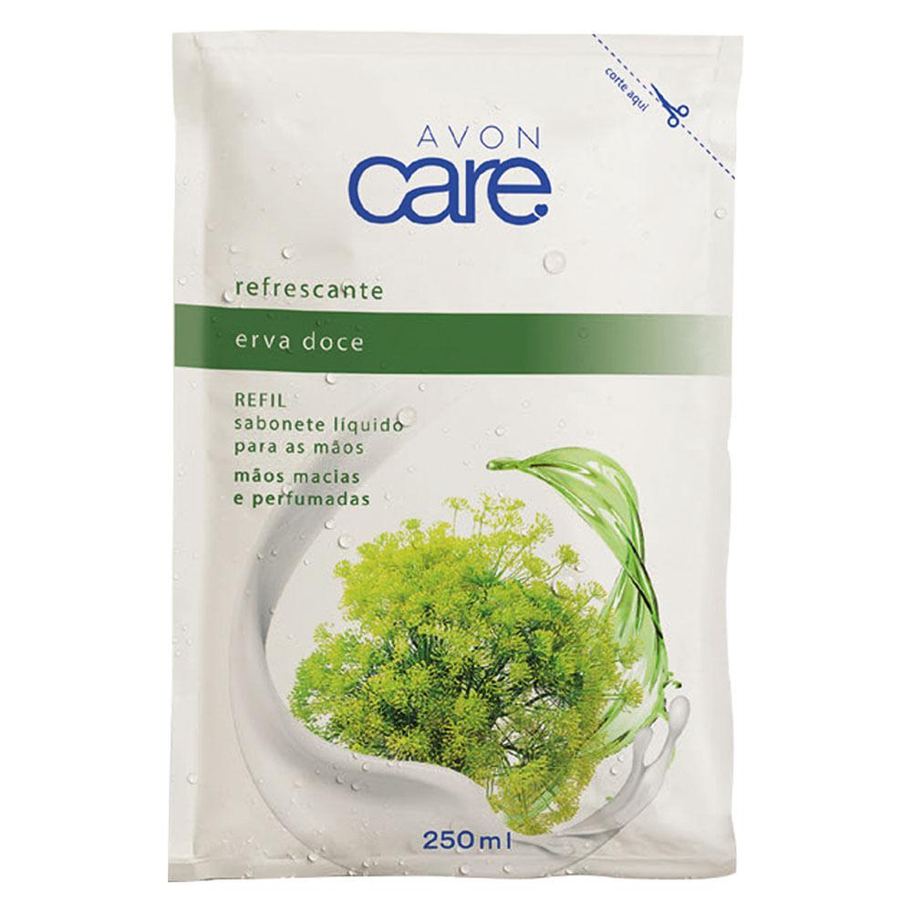 Refil Sabonete Líquido para as Mãos Erva Doce Avon Care - 250ml