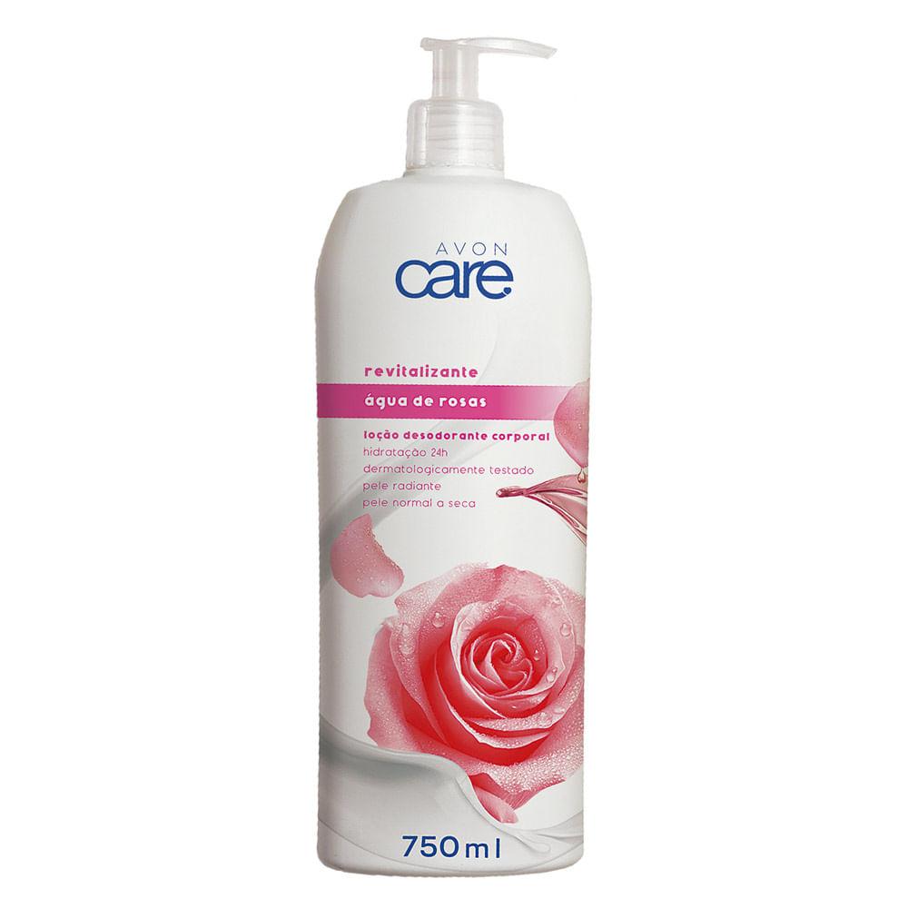 Loção Desodorante Avon Care Água de Rosas - 750ml