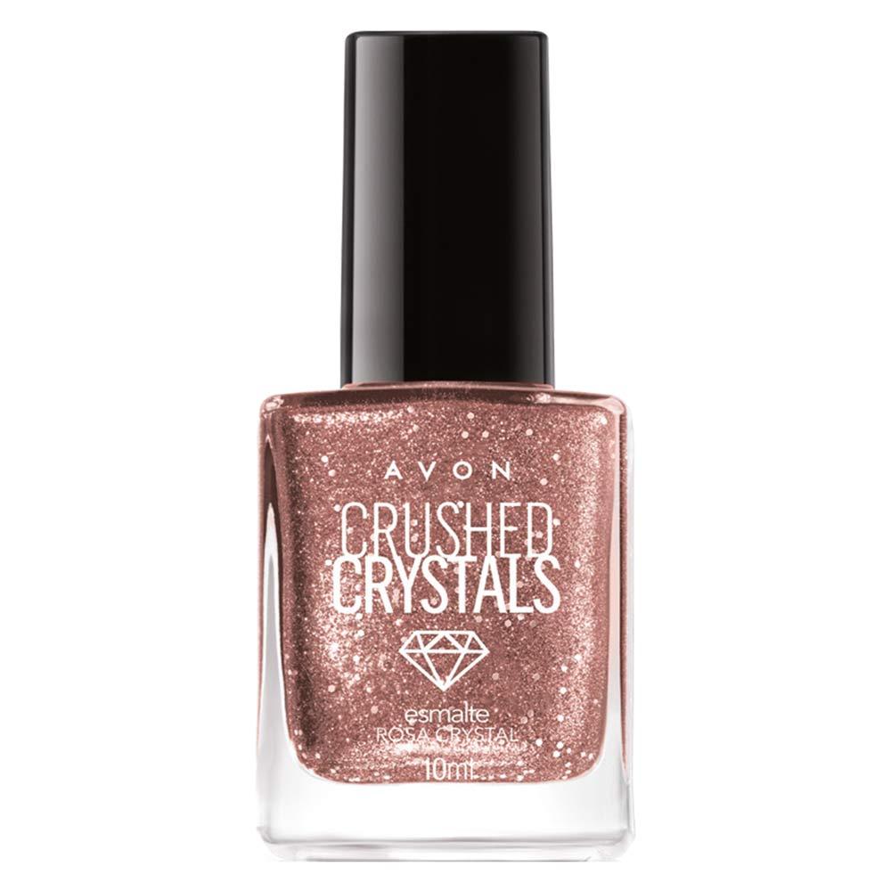 Esmalte Avon Crushed Crystals 10ml - Rosa Crystal