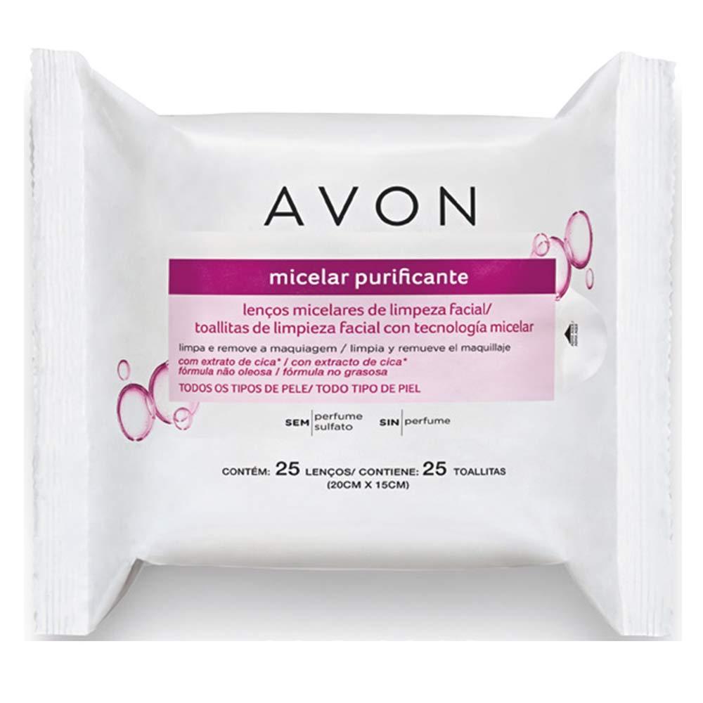 Lenços Micelares de Limpeza Facial - 25 lenços