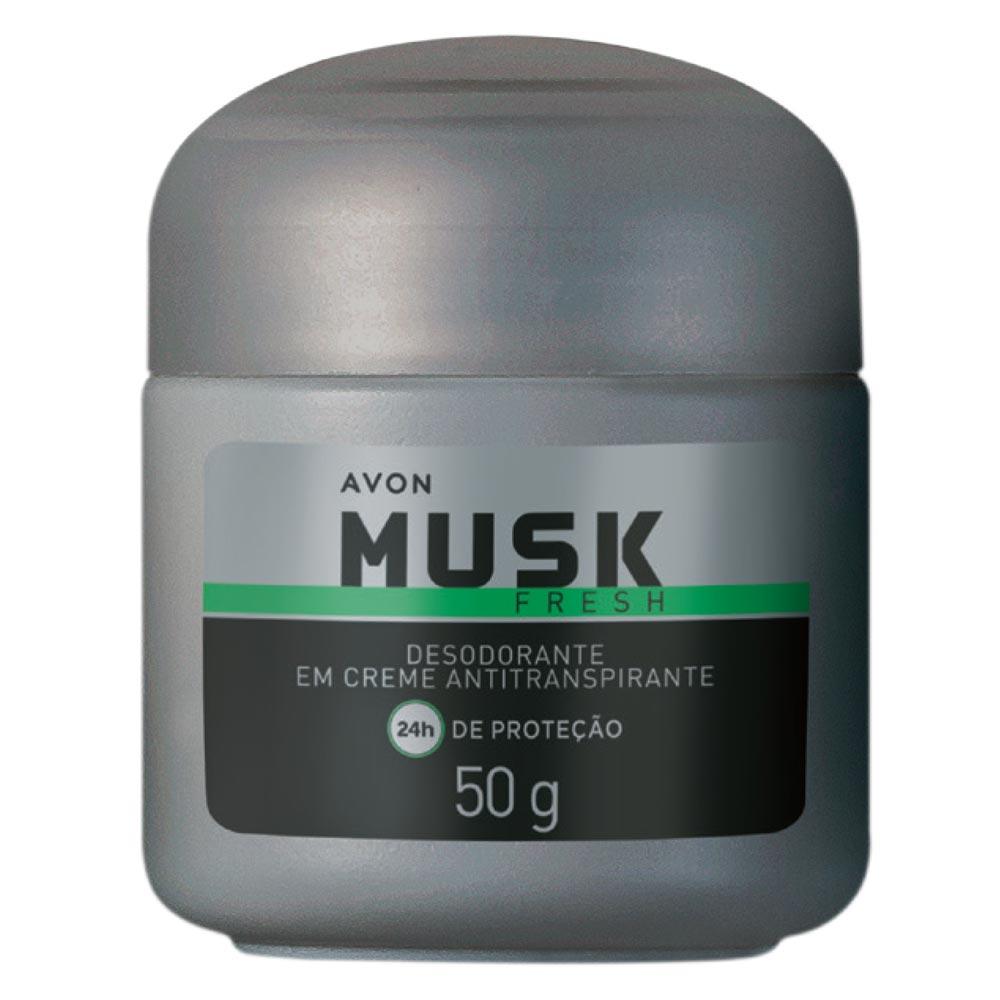 Desodorante em Creme Antiranspirante Musk Fresh - 50 g