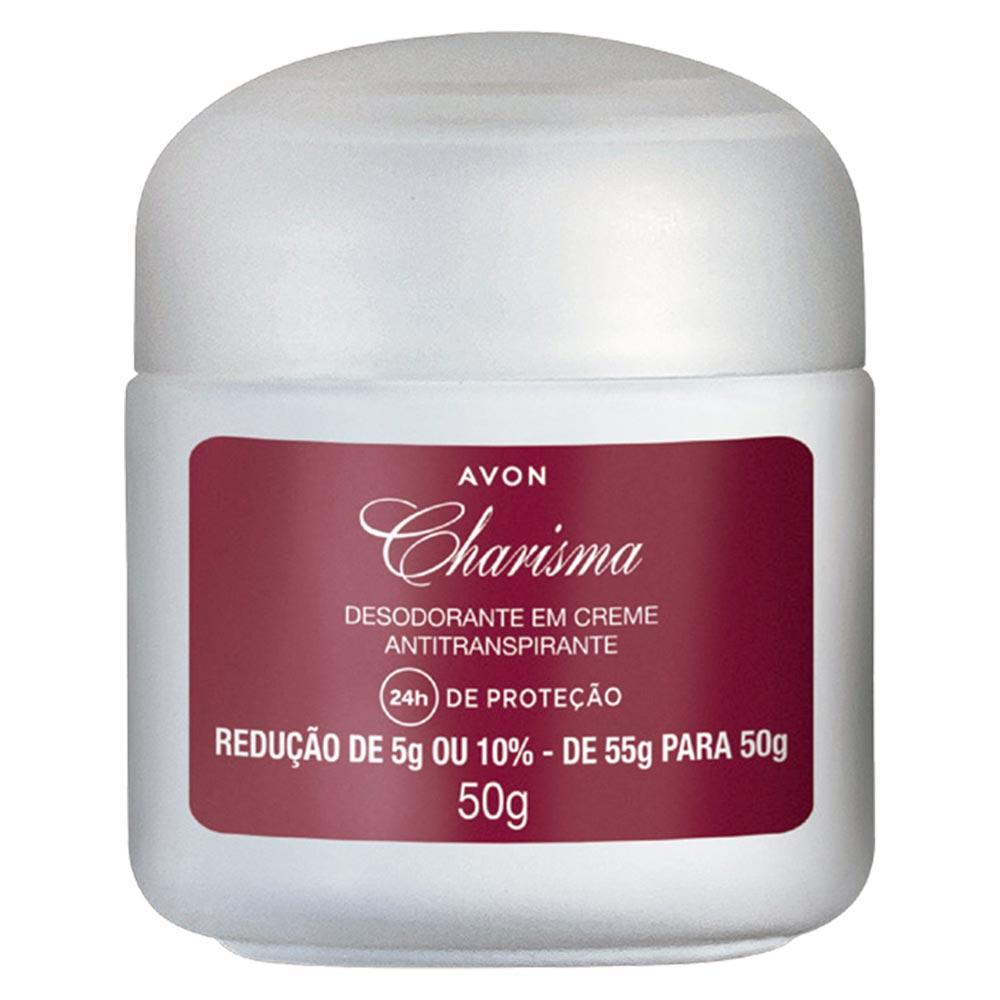 Desodorante em Creme Antiranspirante Avon Charisma - 50 g