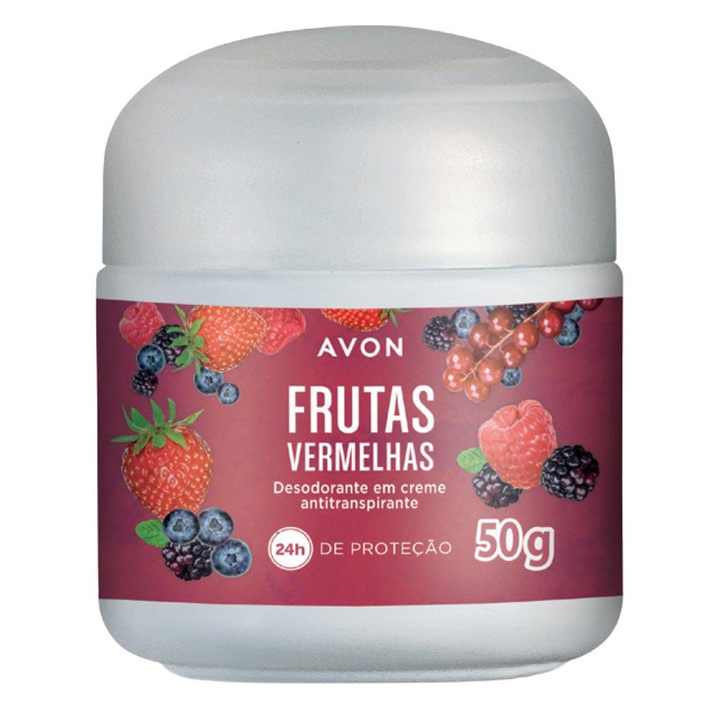 Desodorante em Creme Antiranspirante Avon Frutas Vermelhas - 50 g