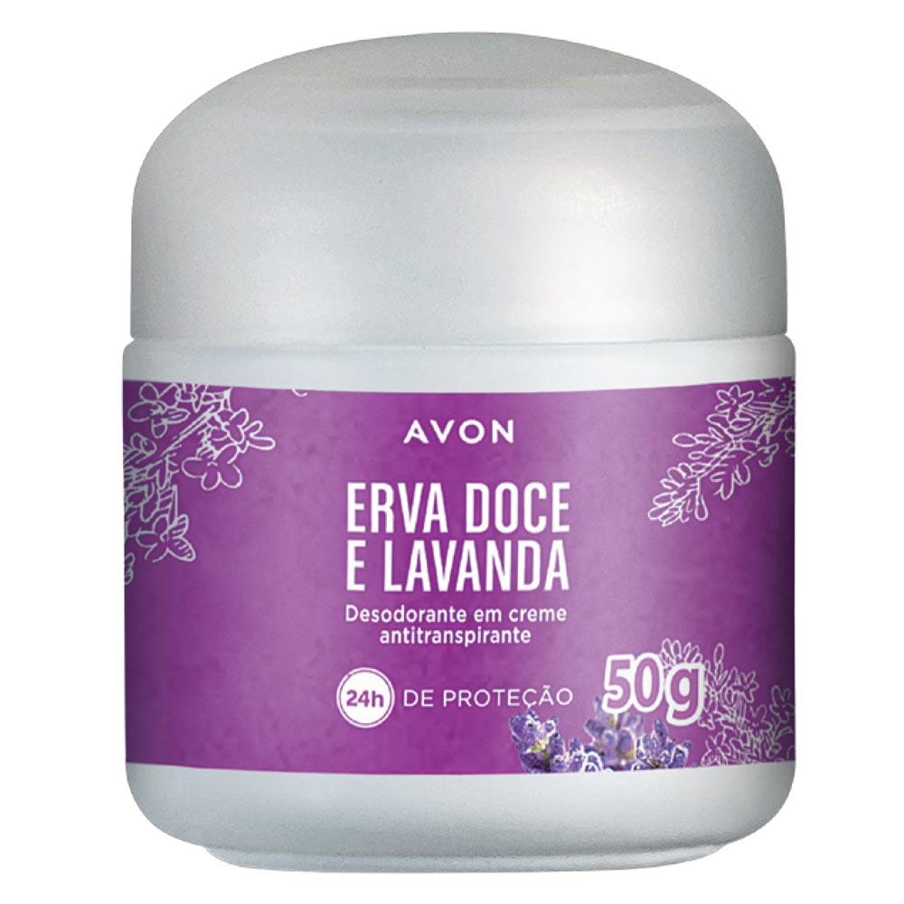Desodorante em Creme Antiranspirante Erva Doce e Lavanda - 50 g