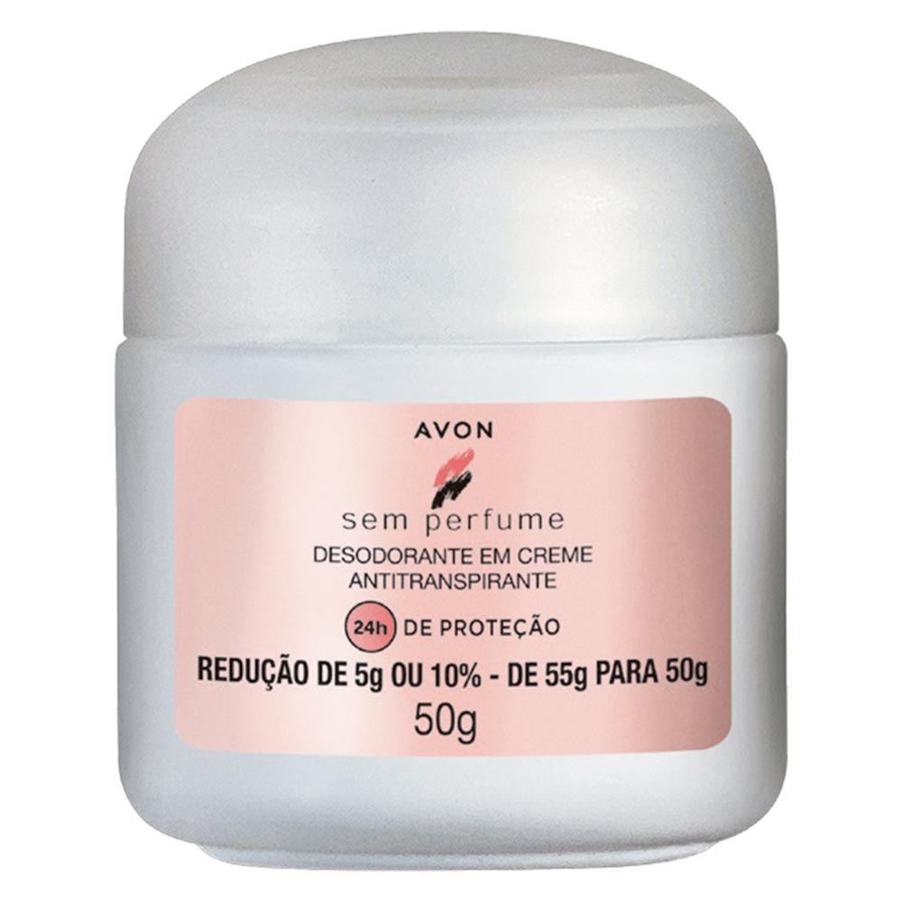 Desodorante em Creme Antiranspirante Avon sem Perfume - 50 g