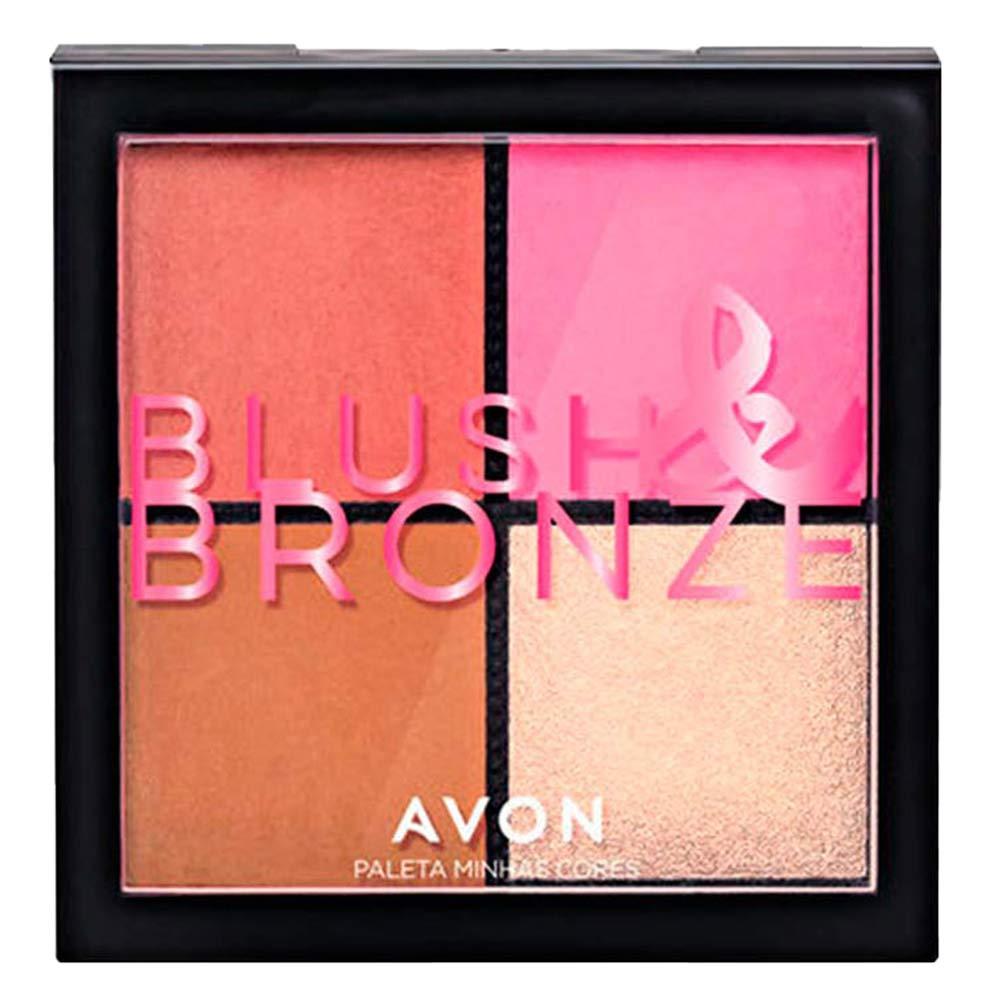 Paleta Avon Minhas Cores - Blush, Iluminador e Bronzer