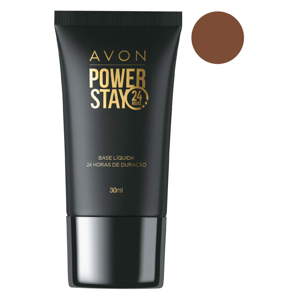 Base Líquida Avon Power Stay 30 ml - 520 NQ Antigo 5.5 Marrom Escuro