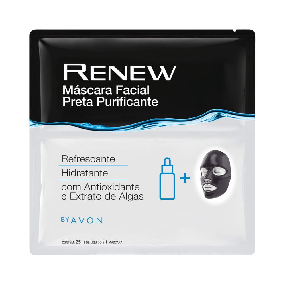 Máscara Facial Preta Purificante Renew - 1 unidade