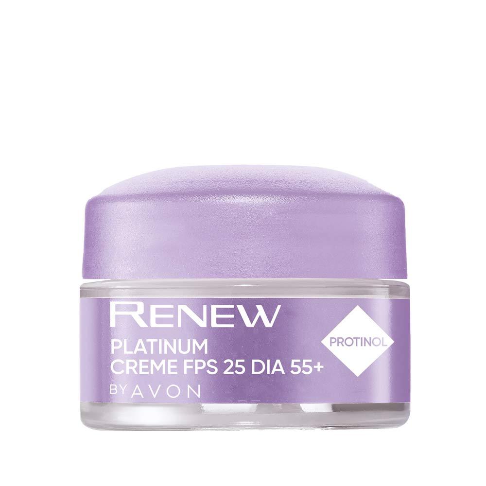 Creme Renew Platinum Dia FPS 25 + 55 - 15g