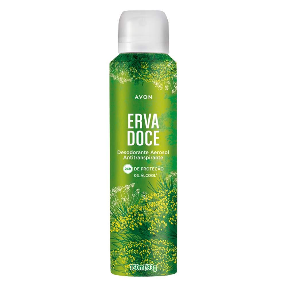 Desodorante Aerossol Antitranspirante Erva Doce - 150 ml
