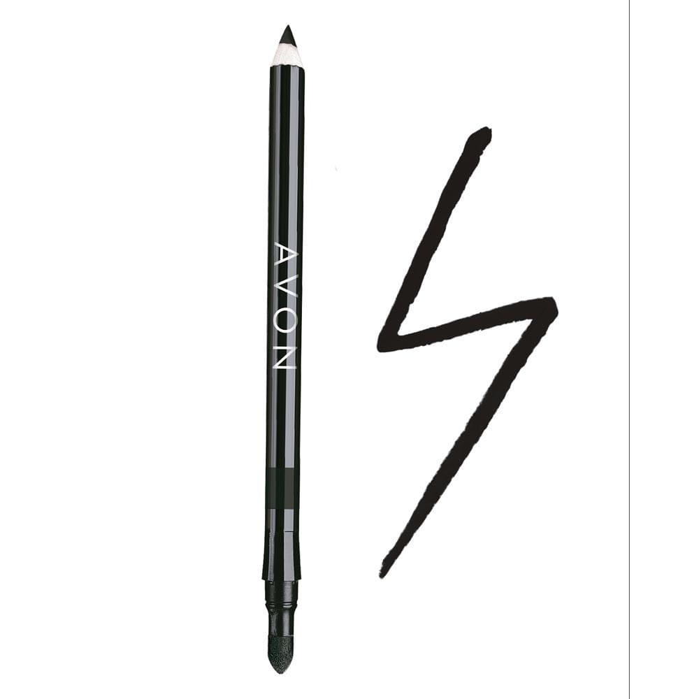 Lápis para os Olhos Avon 2 em 1 1,08g - Preto Intenso