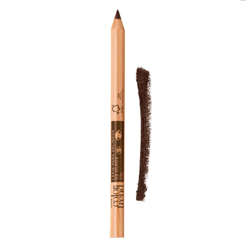 Lápis para Delinear os Olhos Color Trend 1,1g  - Marrom Matte