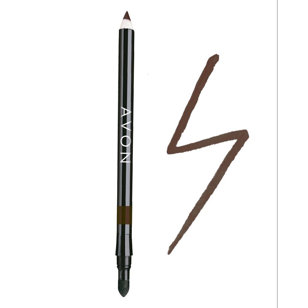Lápis para os Olhos Avon 2 em 1 1,08g - Marrom Intenso