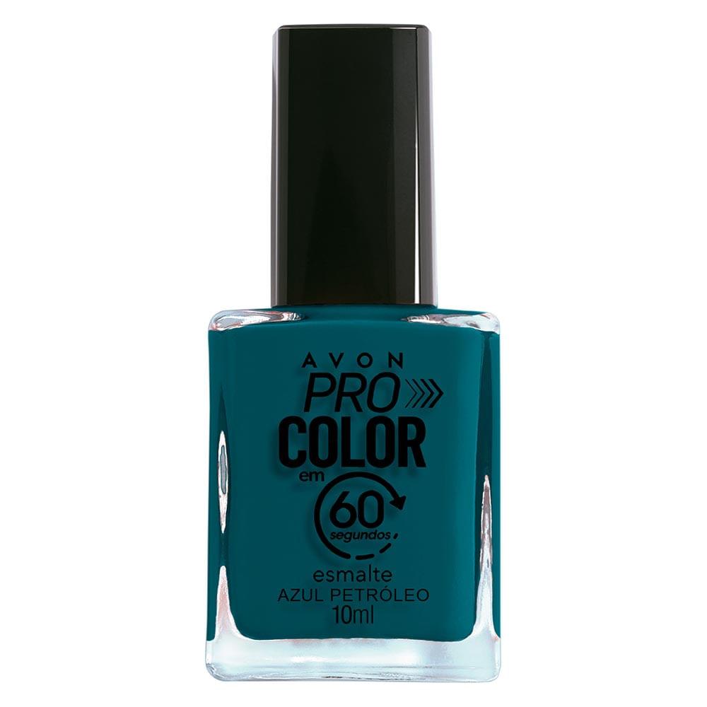 Esmalte Avon Pro Color 10ml - Azul Petróleo