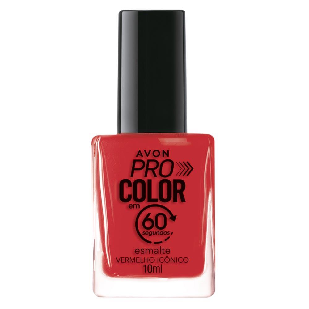 Esmalte Avon Pro Color 10ml - Vermelho Icônico