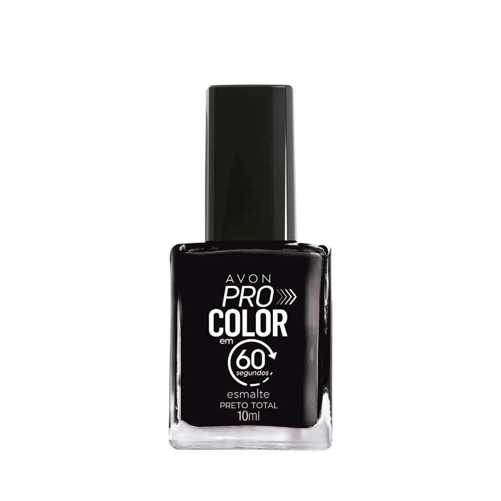 Esmalte Avon Pro Color 10ml - Preto Total