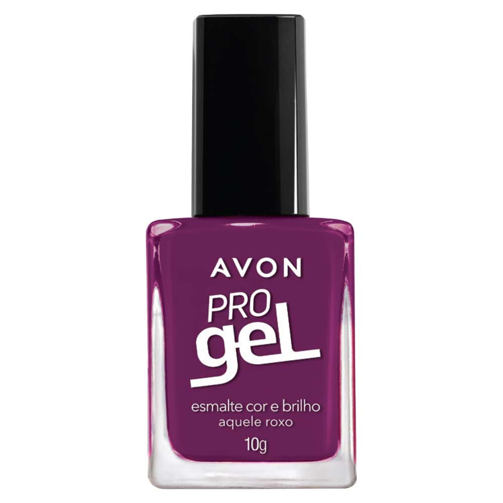 Esmalte Avon Cor e Brilho Pro Gel 10g - Aquele Roxo