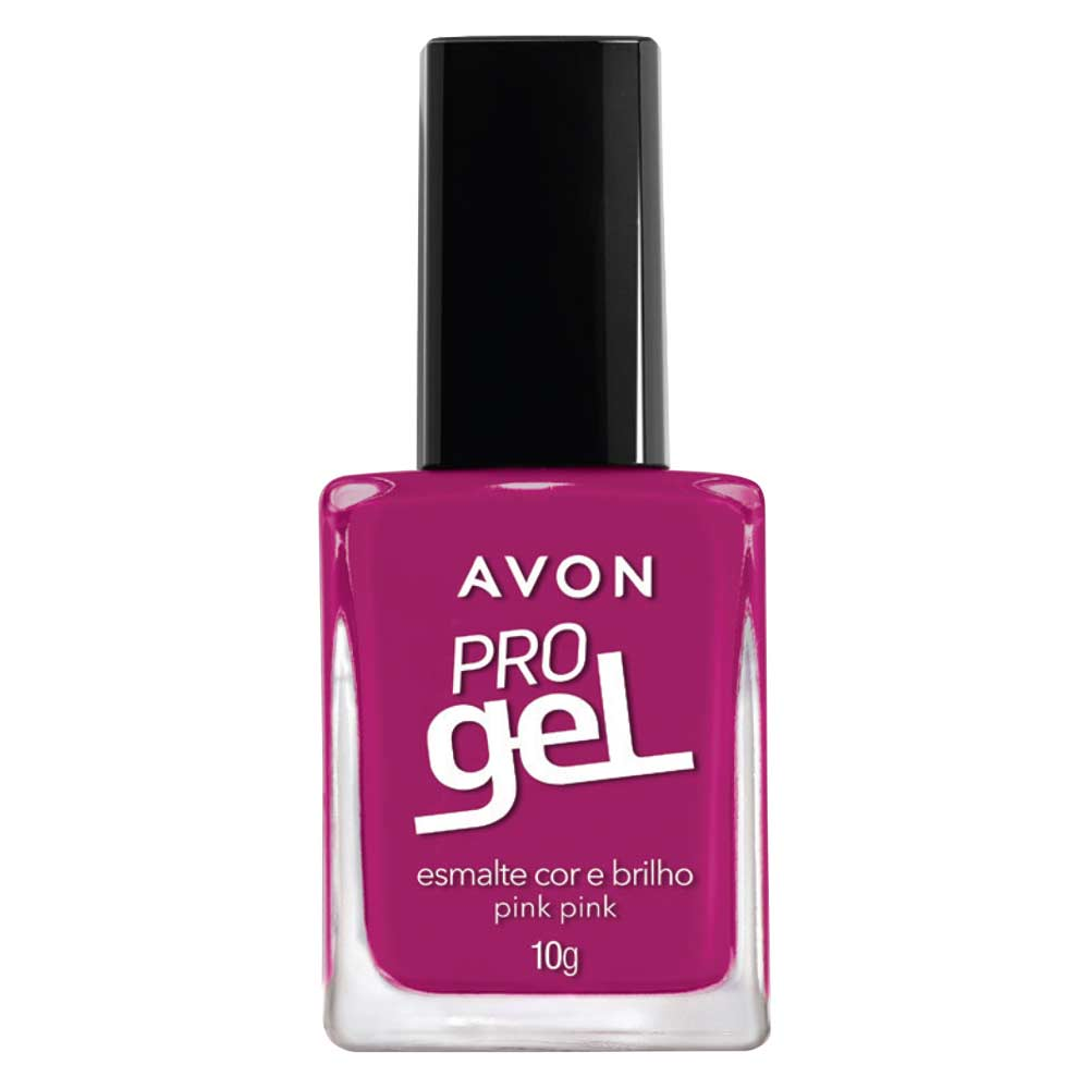 Esmalte Avon Cor e Brilho Pro Gel 10g - Pink Pink