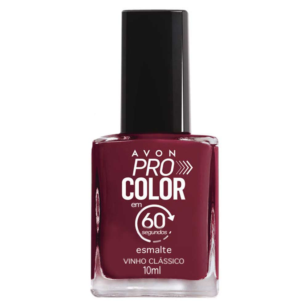 Esmalte Avon Pro Color 10ml - Vinho Clássico