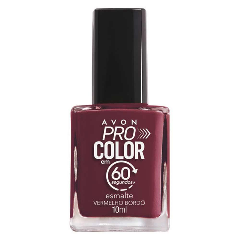 Esmalte Avon Pro Color 10ml - Vermelho Bordô