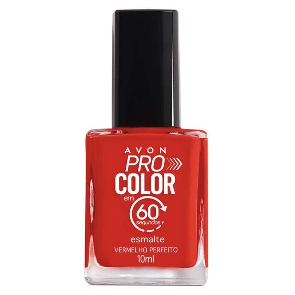 Esmalte Avon Pro Color 10ml - Vermelho Perfeito