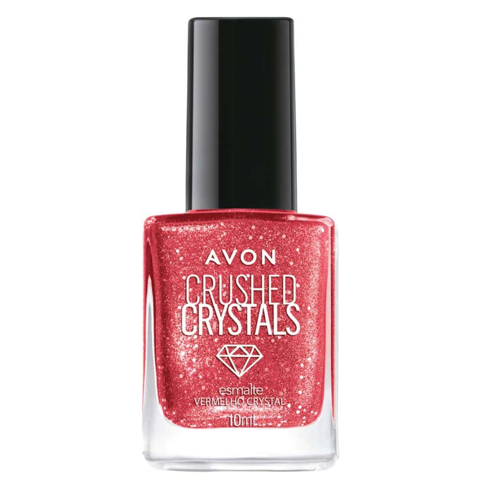 Esmalte Avon Crushed Crystals 10ml - Vermelho Crystal