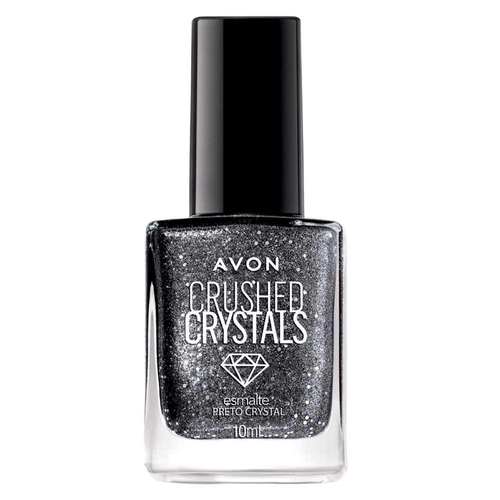 Esmalte Avon Crushed Crystals 10ml - Preto Crystal