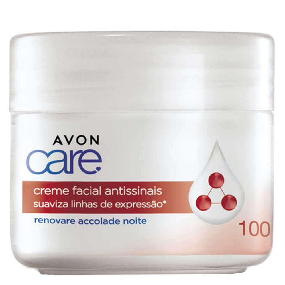 Creme Facial Avon Care Antissinais Noite - 100g