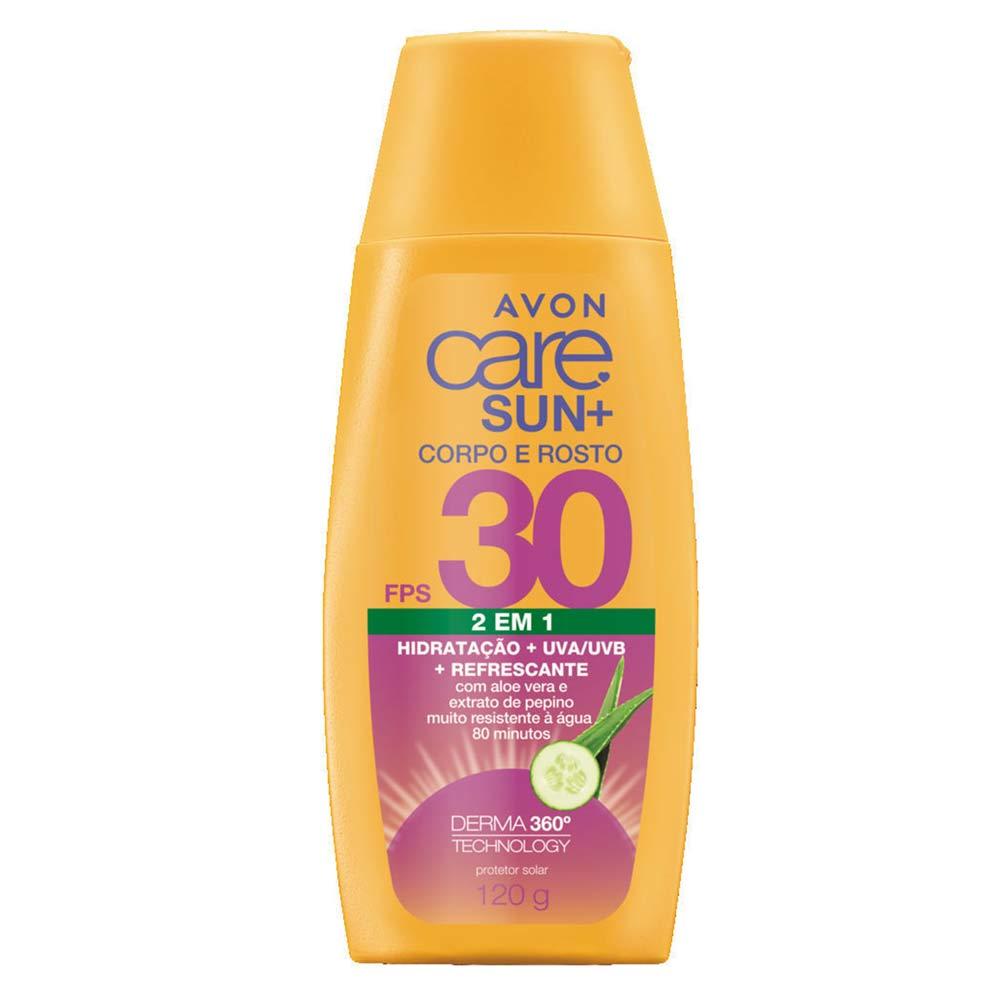 Protetor Solar Avon Care Sun+ Rosto e Corpo FPS30 - 120g