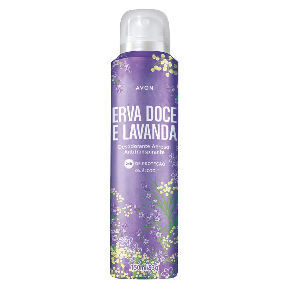 Desodorante Aerossol Avon Erva Doce e Lavanda - 150ml