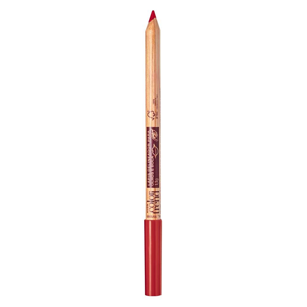 Lápis Delineador para Olhos e Boca  1,1g - Vermelhou